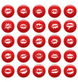 comic bubble sound icons set vetor red vector image