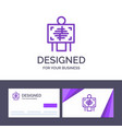 creative business card and logo template xray vector image