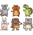 cute pets set cartoon vector image vector image