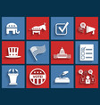Election retro flat icons vector image vector image