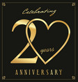 elegant black and gold anniversary background 20 vector image vector image