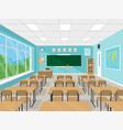 empty school classroom interior vector image
