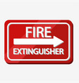 fire extinguisher label design vector image vector image