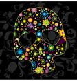 Floral skull vector image vector image