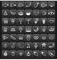 food icons black SQUARE vector image vector image