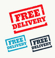 free delivery stamp on white background vector image vector image
