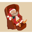 Funny Color Christmas background with Santa Claus vector image