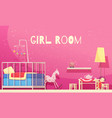 girl room cartoon vector image
