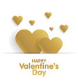 golden greeting card happy valentines day vector image