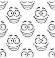 Happy face seamless pattern vector image vector image