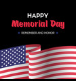 happy memorial day dark greeting card vector image