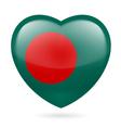 Heart icon of Bangladesh vector image