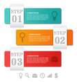 infographics arrows templates 3 option parts vector image