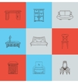 It is a of home furnishings vector image
