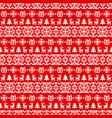 knitted christmas seamless pattern new vector image vector image