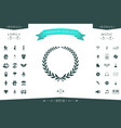 laurel wreath - elegant symbol vector image