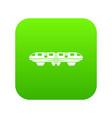 monorail train icon digital green vector image
