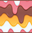 multicolor ice cream dripping liquid layered vector image