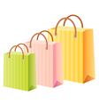 Multicolor shopping bags vector image vector image