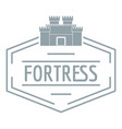 old fortress logo simple gray style vector image vector image