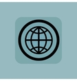 Pale blue globe sign vector image vector image