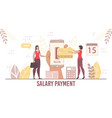 payroll and salary payment service for business vector image vector image