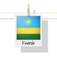 photo of rwanda flag vector image