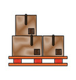 piled cardboard boxes on pallets icon image vector image vector image