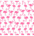 pink flamingo silhouettes seamless pattern on vector image vector image