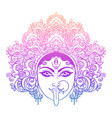 portrait indian hindi goddess kali female blue vector image