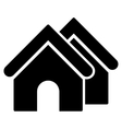 Real Estate Flat Icon vector image vector image
