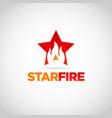 red star fire logo design symbol vector image vector image
