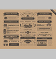 restaurant menu typographic decoration design vector image