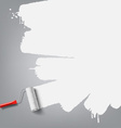 roller brush background vector image vector image