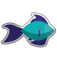 sea fish icon vector image vector image