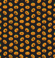 Seamless pattern from Halloween emotional pumpkins vector image