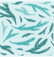 seamless pattern hand drawn spruce branches vector image vector image