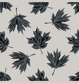 seamless pattern with hand drawn stylized maple vector image vector image
