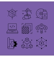 set line icons in flat style vector image vector image