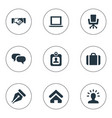 set of simple trade icons vector image