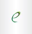 small letter e green black logo vector image vector image