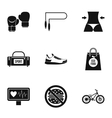 Sport icons set simple style vector image vector image