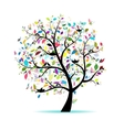 Spring tree for your design vector image vector image