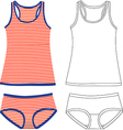 Tank Tops And Panties vector image vector image