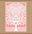 template for laser cutting wedding invitation vector image vector image