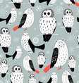 texture of white owls vector image vector image