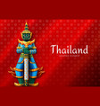 thailand thai temple guardian giant vector image vector image