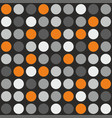tile pattern with grey white and orange polka dot vector image vector image