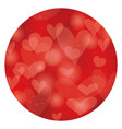 valentines day circle abstract background vector image