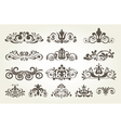 Vintage element and page decoration Borders set vector image
